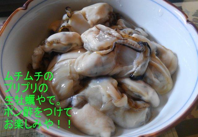 生牡蠣の食べ方は、やっぱポン酢が最高だよな・・。(くいものネタ)